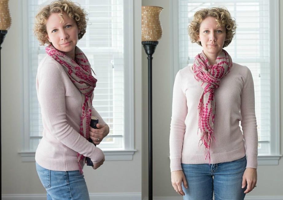 Δείτε πόσο άσχηη φαίνεται η αριστερή φωτογραφία στην οποία η γυναίκα αυτή καμπουριάζει.