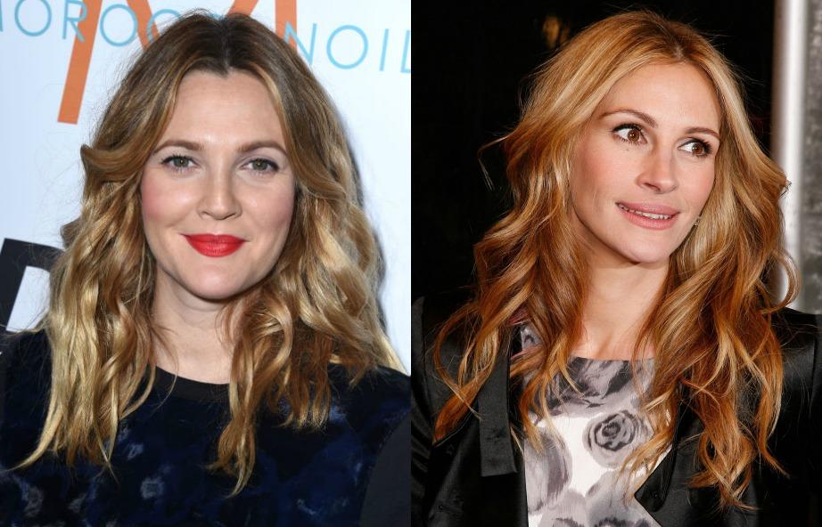 Οι γυναίκες με μύτες και ασυμμετρίες στα μαλλιά είναι πολύ αφοσιωμένες με τη δουλειά και την οικογένεια κάτι που ισχύει και για την Julia Roberts αλλά και για την Drew Barrymore.