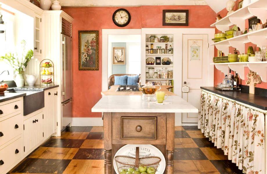 Το χαρούμενο σομόν θα κάνει τη μικρή κουζίνα σας να φαίνεται... τεράστια!