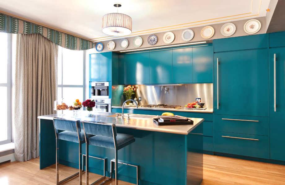 Το μπλε αποτελεί ένα από τα κλασικά χρώματα για την κουζίνα σας.