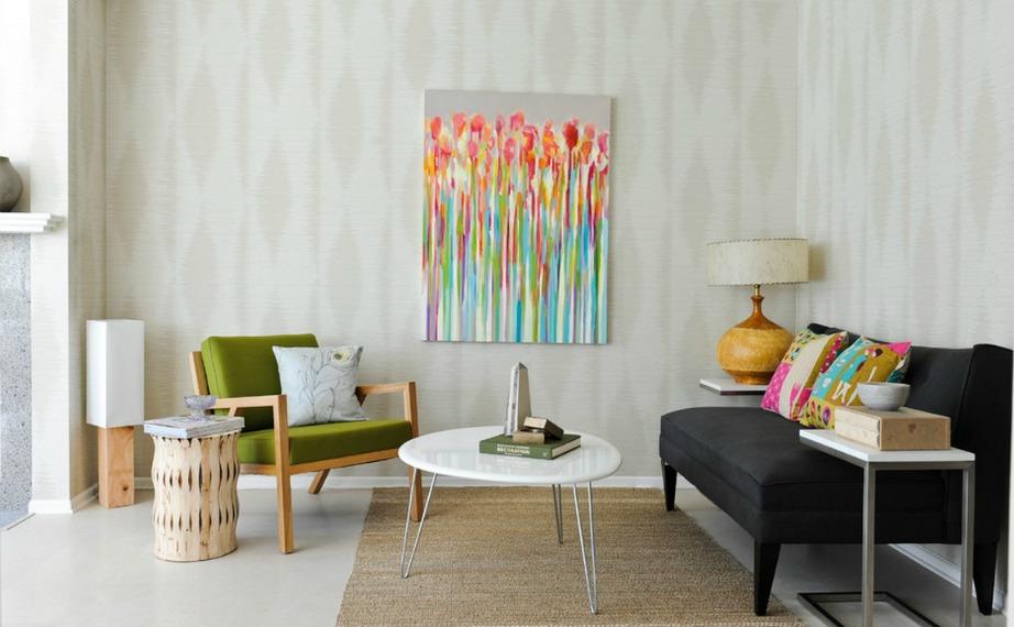 Ακόμα και ένας πίνακας μπορεί να γίνει statement κομμάτι με τη σωστή διακόσμηση.