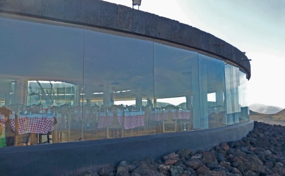 Το εστιατόριο έχει χτιστεί πάνω σε ένα ενεργό ηφαίστειο.