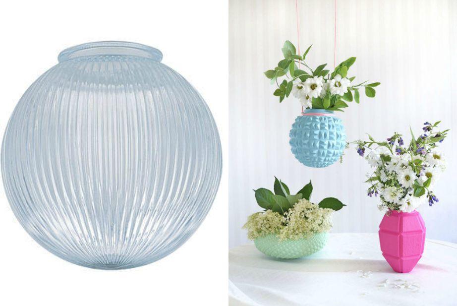 Δείτε πόσο διαφορετικό φαίνεται ένα γυάλινο βάζο αν βαφτεί σωστά.