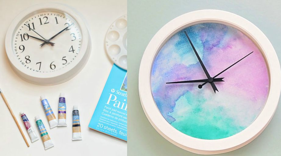 Ένα πλαστικό ρολόι με τις τέμπερες του παιδιού σας μπορεί να γίνει ένα πολύ όμορφο διακοσμητικό.