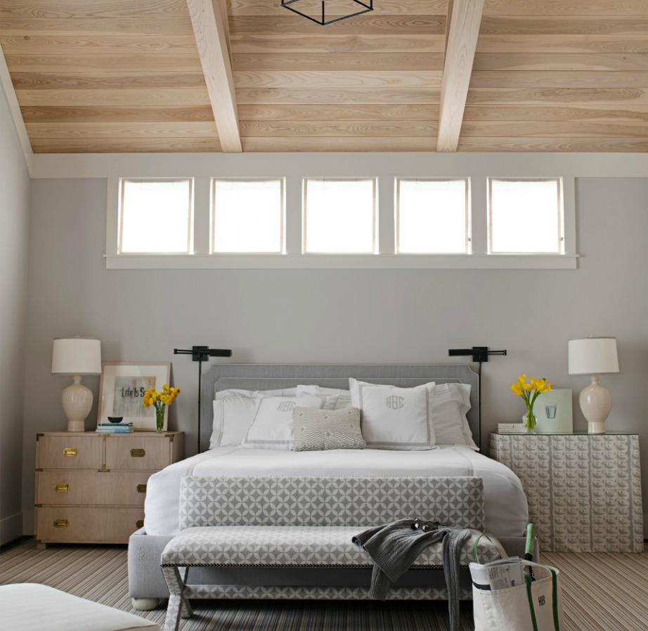 Το γκρεζ είναι ένα χρώμα που ταιριάζει πολύ σε υπνοδωμάτια.