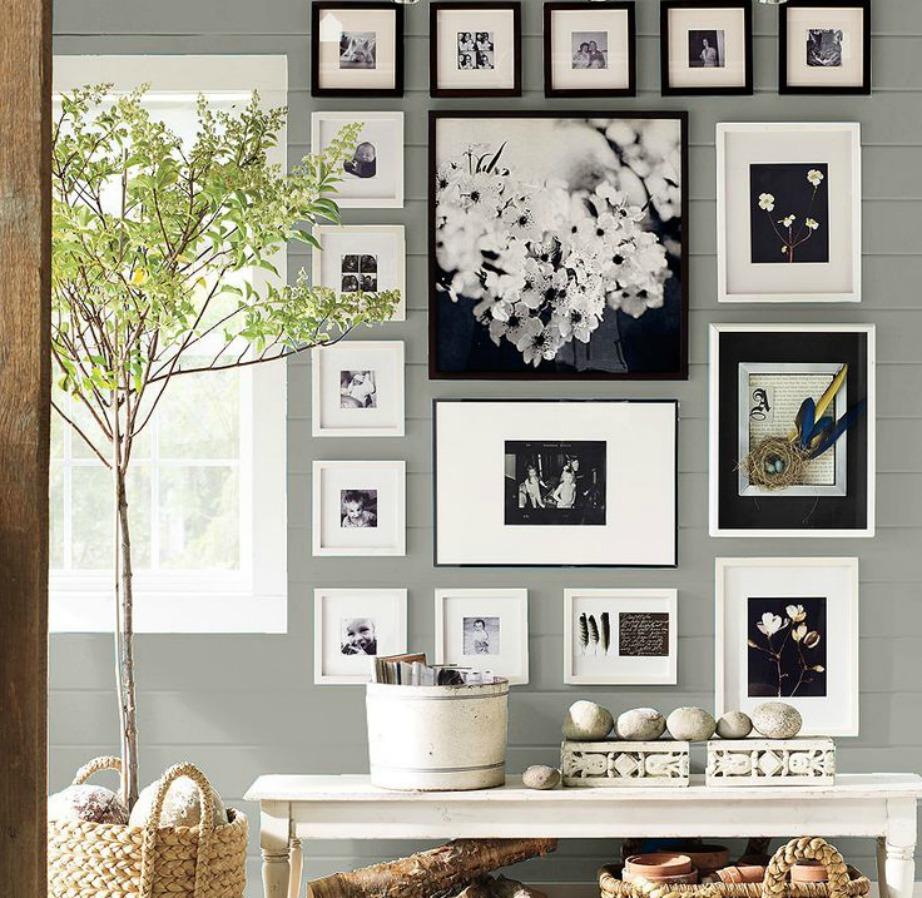 Το γκρεζ είναι ένα χρώμα που ταιριάζει πολύ και σε τοίχους.