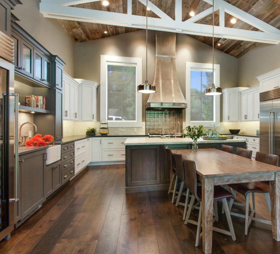 Το γκρεζ ταιριάζει σε κάθε χώρο του σπιτιού ακόμα και στην κουζίνα.
