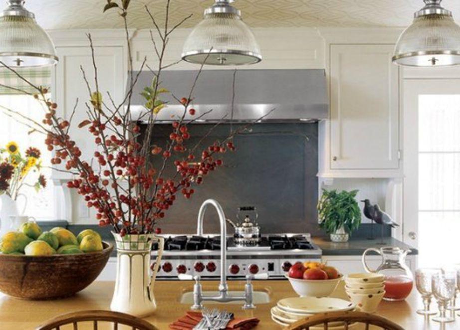 Η διακόσμηση στην κουζίνα είναι απλά φανταστική.