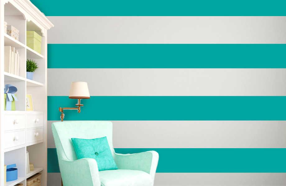 Βάψτε τον τοίχο σας ριγέ και ανανεώστε τη διάθεσή και το σπίτι σας εύκολα και οικονομικά!