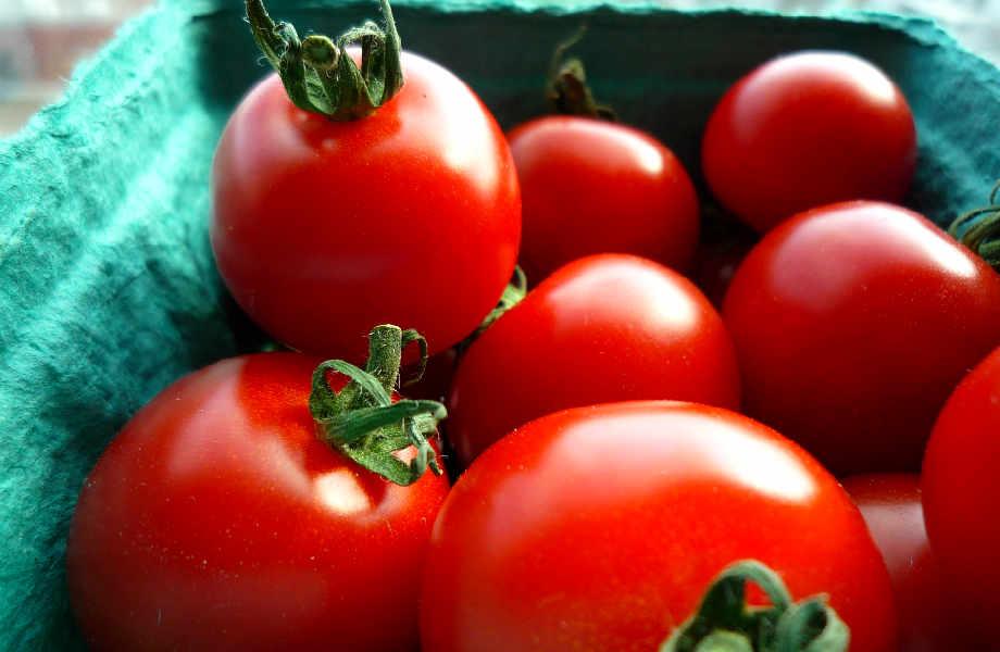 Οι ντομάτες  οφείλουν το υπέροχο κόκκινο χρώμα τους στο λυκοπένιο, ένα αντιοξειδωτικό που προστατεύει από τις δερματικές βλάβες.