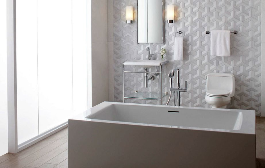 Φανταστικά πλακάκια τοίχου σε λευκή απόχρωση και με γεωμετρικά σχέδια!