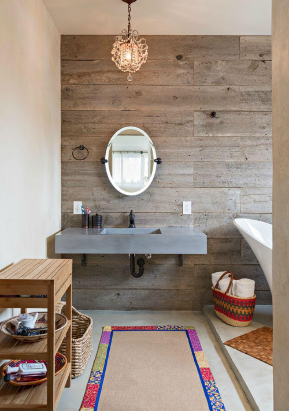 Κάντε το μπάνιο σας να μοιάζει σαν προέκταση της διακόσμησης του σαλονιού σας.