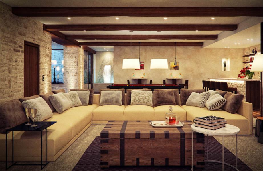 Κομψό και χαρούμενο, το καμηλό ταιριάζει γάντι σε κάθε εργένικο σπίτι.
