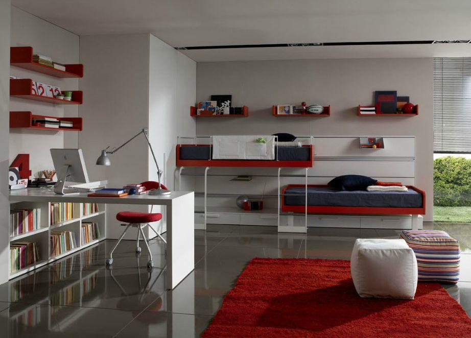Αν το αγαπημένο χρώμα του παιδιού σας είναι το κόκκινο, τότε μην βάψετε όλο το δωμάτιο κόκκινο. Απλά προσθέστε κόκκινες πινελιές.