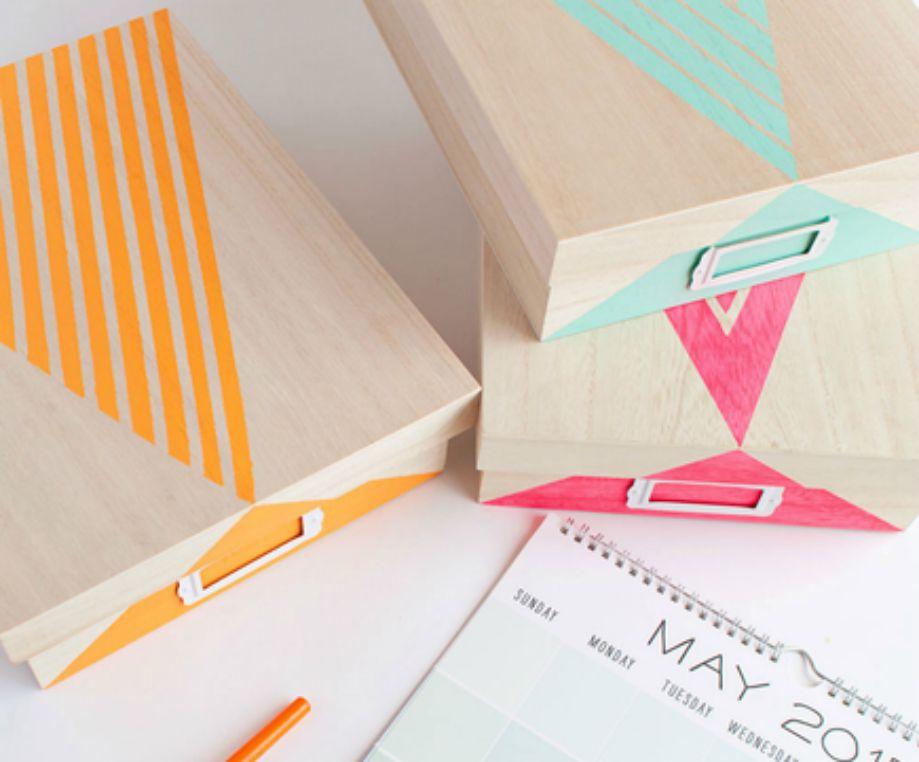 Φτιάξτε όμορφα κουτιά αποθήκευσης για το γραφείο σας.