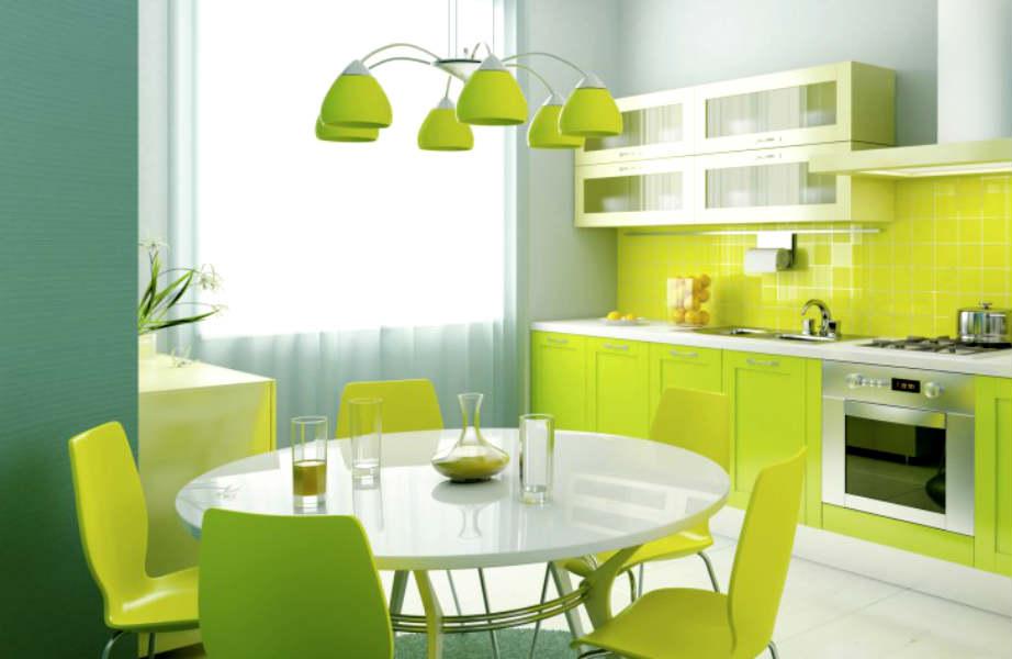 """Πείτε """"ναι"""" στο χρώμα και για το φωτιστικό της κουζίνας σας."""