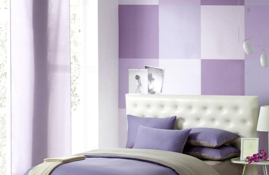 Το color blocking χαρίζει την κομψότητά του σε αυτό το υπνοδωμάτιο.
