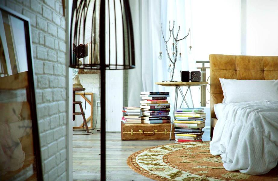 2 σε 1: Μια παλιά βαλίτσα μπορεί να ενισχύει το ύφος του χώρου σας αλλά και να λειτουργεί ως αποθηκευτικός χώρος.