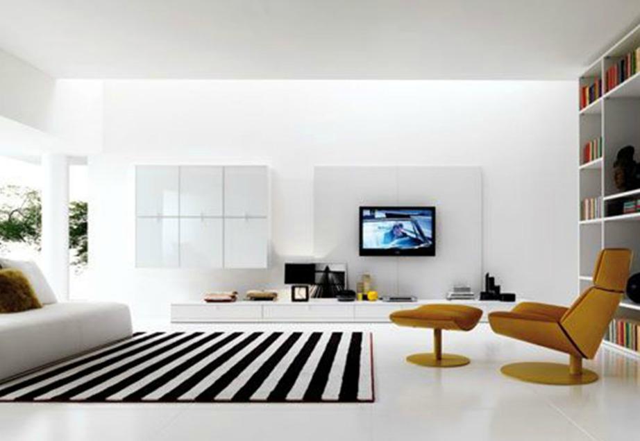 Αυτό το δωμάτιο φαίνεται πολύ αφιλόξενο και κρύο. Καλό θα ήταν αν έχετε μεγάλους χώρους να τους εμπλουτίσετε με πιο ζεστά χρώματα και διακοσμητικά για να νιώθετε και εσείς πιο άνετοι και ήρεμοι.