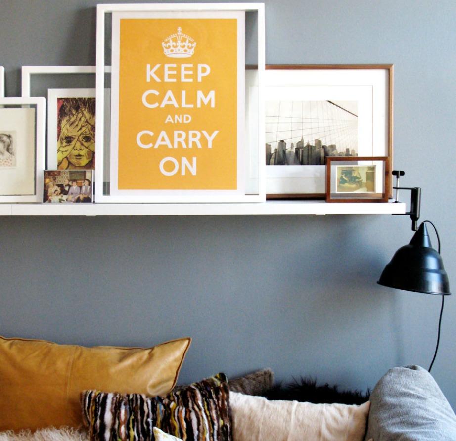 Σταματήστε να διακοσμείτε με πίνακες, μαξιλάρια και διακοσμητικά που έχουν πάνω τους το γνωστό logo 'Keep calm and...'.