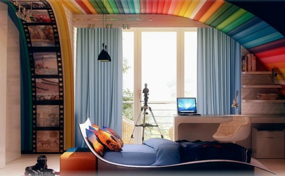 Με το τεχνητό ουράνιο τόξο το δωμάτιο αποκτάει χρώμα και ένταση
