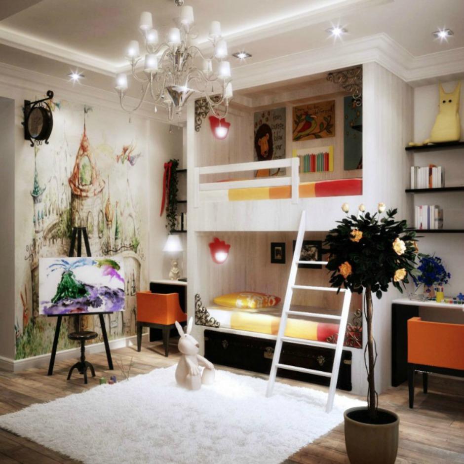 Ένα εκπληκτικό δωμάτιο για παιδιά με καλλιτεχνική φλέβα
