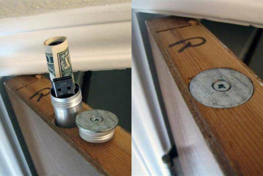 Κρυψώνες για μικροπράγματα μέσα σε πόρτες και παράθυρα