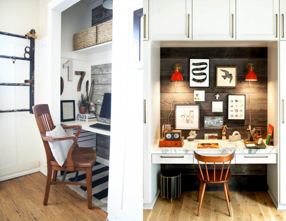 Επιλέξτε μικρό γραφείο αν θέλετε να το κρύβετε πίσω από τις πόρτες της ντουλάπας