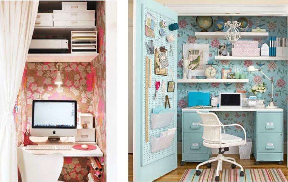 Παίξτε με τα χρώματα και τη διακόσμηση για να δημιουργήσετε ένα όμορφο και χαριτωμένο γραφείο