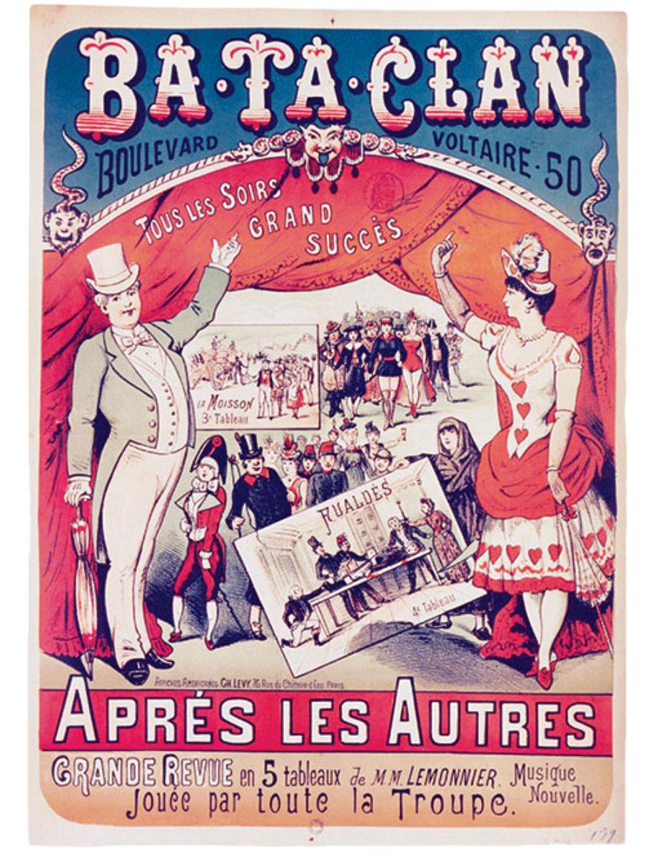 Από τον 19ο αιώνα με αγάπη: Αφίσα που διαφημίζει το σόου του θεάτρου.