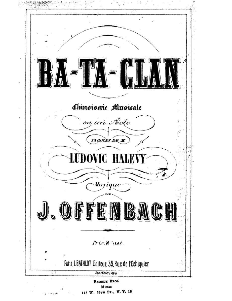 Η διάσημη οπερέτα Ba-ta-clan- αποτέλεσε έμπνευση για το όνομα του θεάτρου.