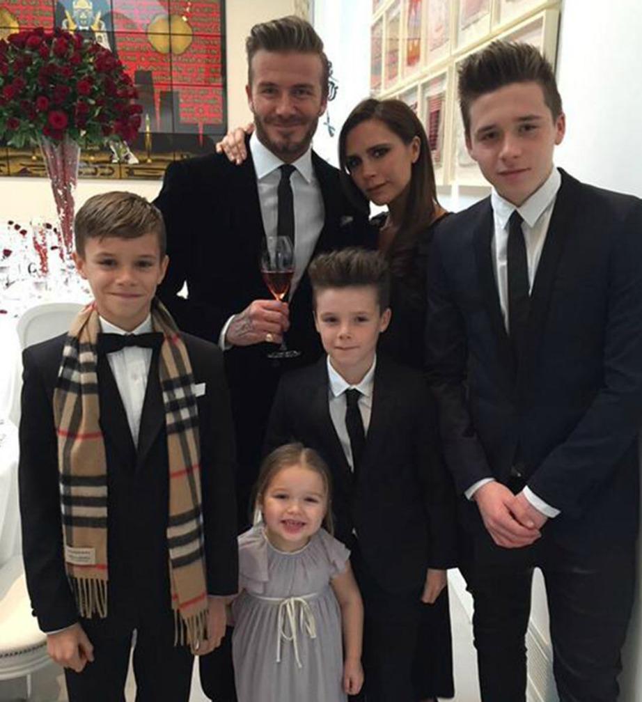 Η οικογένεια Beckham είναι από τις πιο δεμένες οικογένειες επωνύμων.