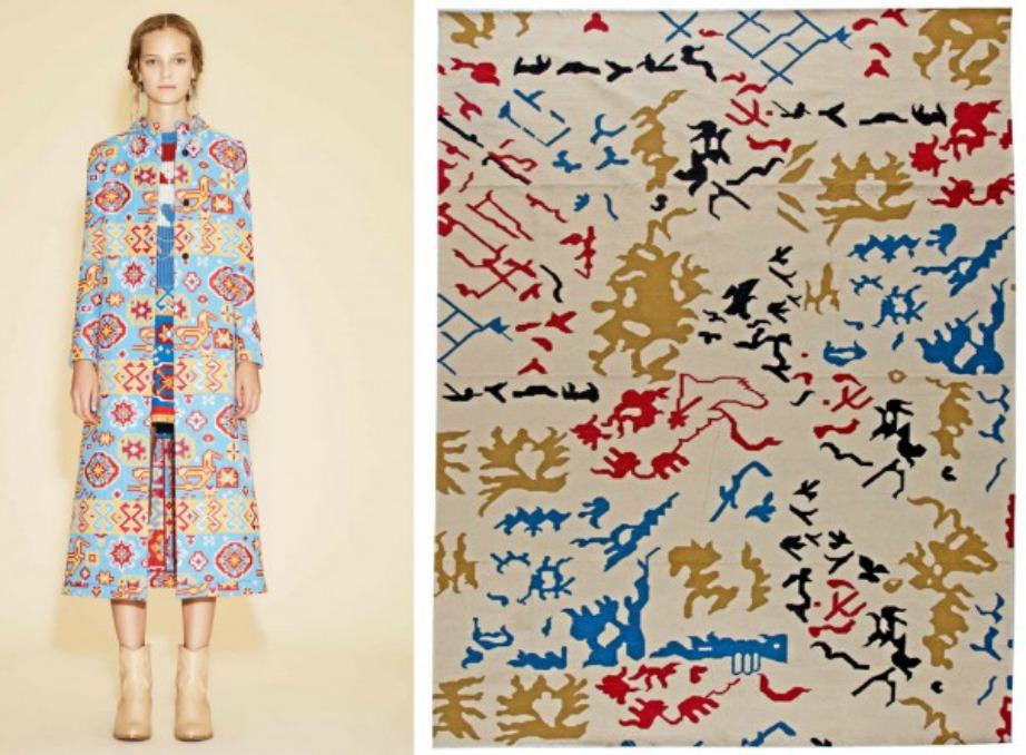 Δυνατά χρώματα και έντονες αποχρώσεις είναι φέτος μόδα και στα χαλιά και στα ρούχα!