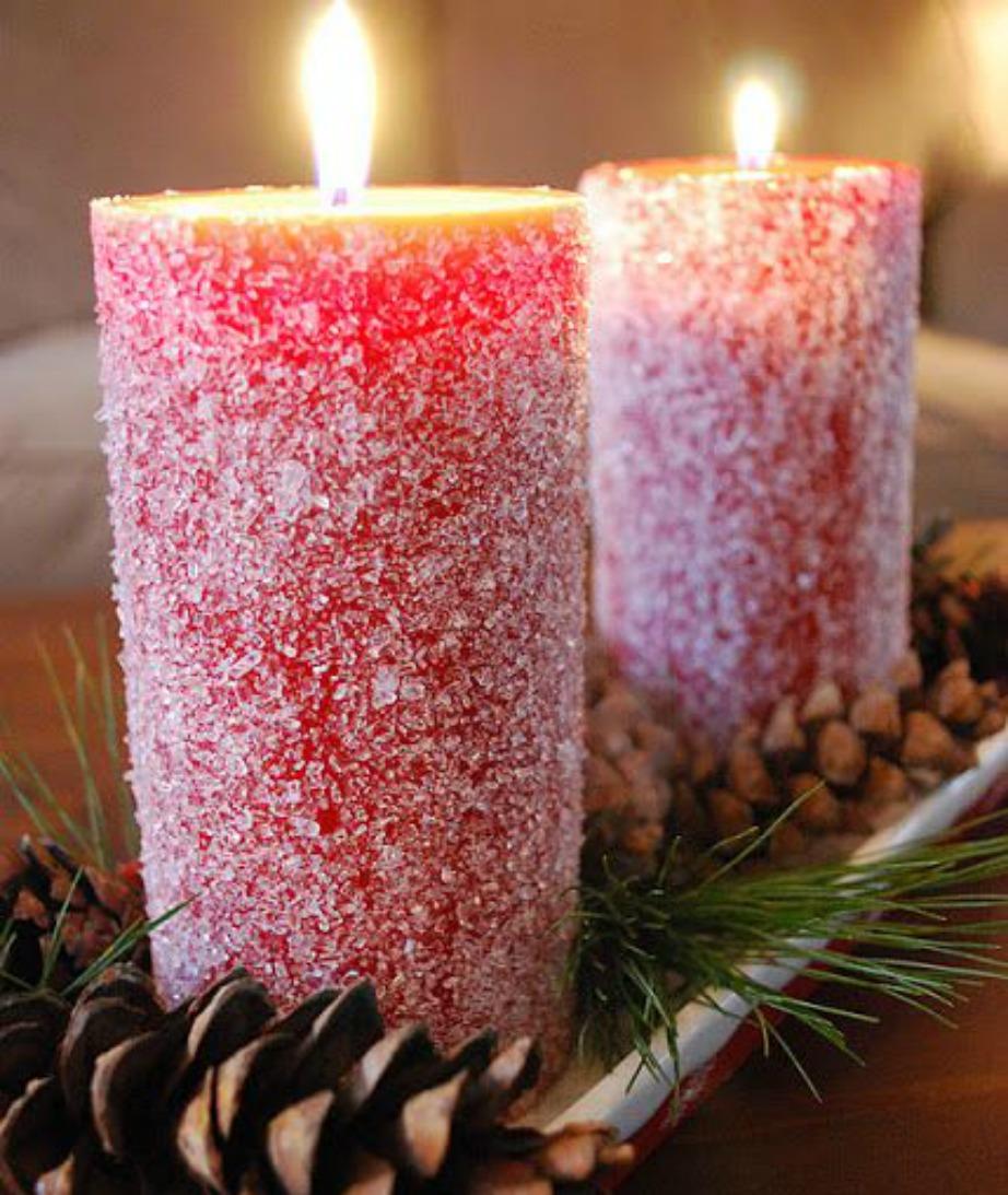Μπορείτε πανεύκολα να φτιάξετε και μόνοι σας υπέροχα χριστουγεννιάτικα κεριά.