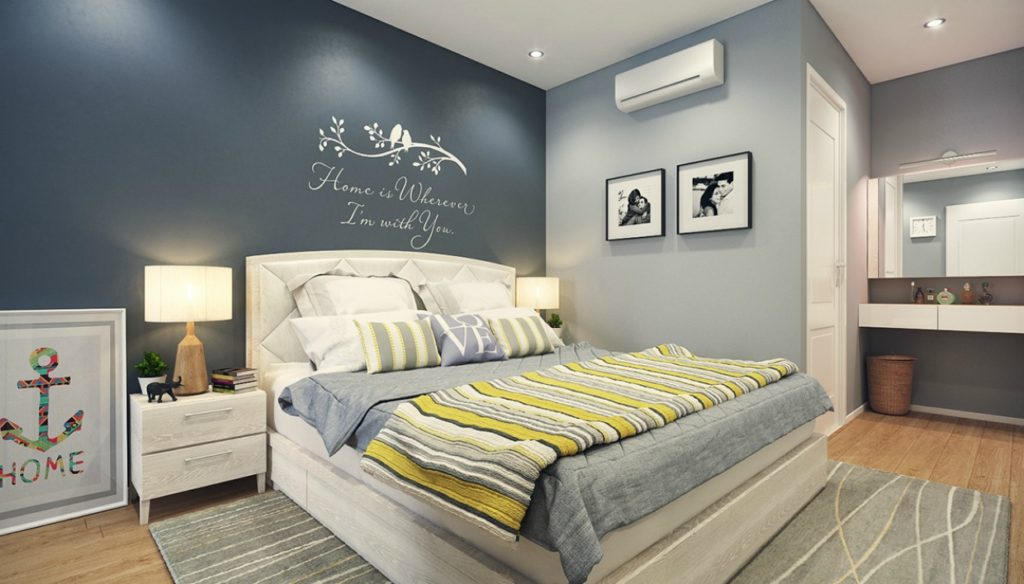 8 spirossoulis for Blue bedroom ideas for couples