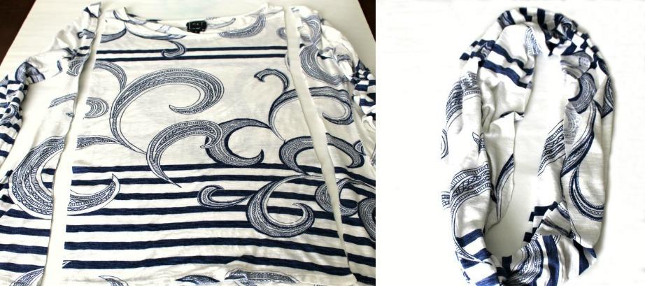 Φτιάξτε το πιο τέλειο φουλάρι από μια παλιά μπλούζα.