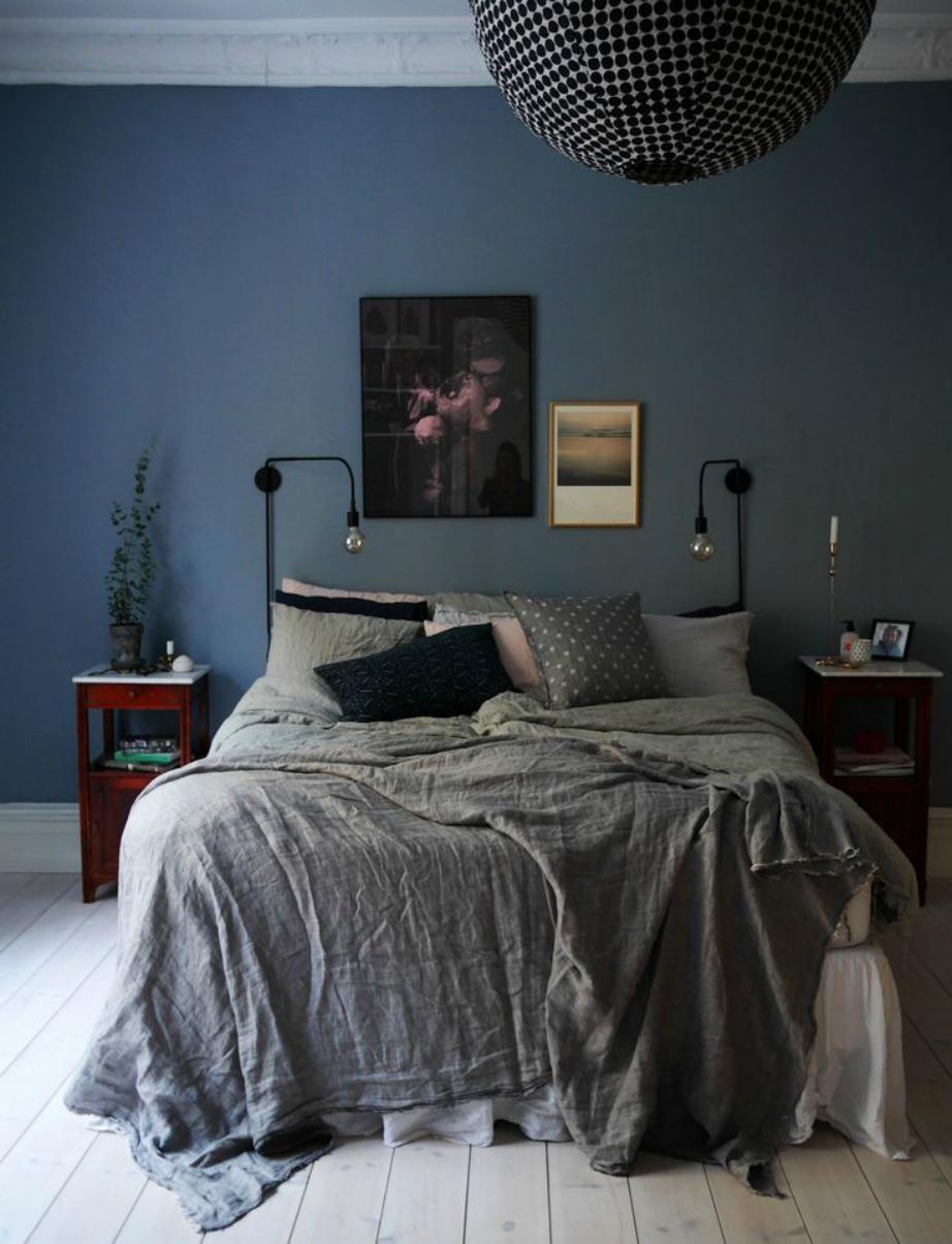 Μην φοβάστε να βάλετε χρώμα στους τοίχους του δωματίου σας.