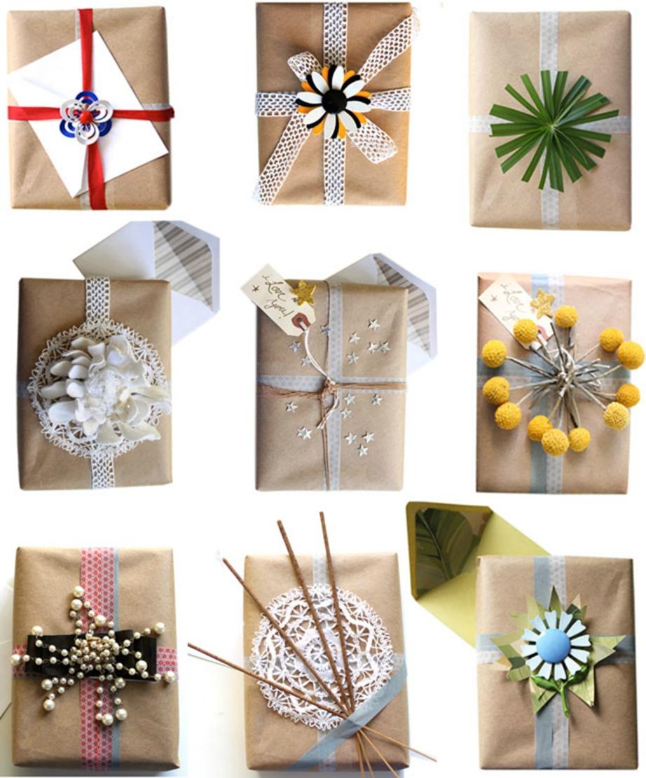 Βάλτε τη φαντασία σας να δουλέψει και στολίστε τα δώρα σας με γλυκά, κορδέλες, λουλούδια και ό,τι άλλο θέλετε.