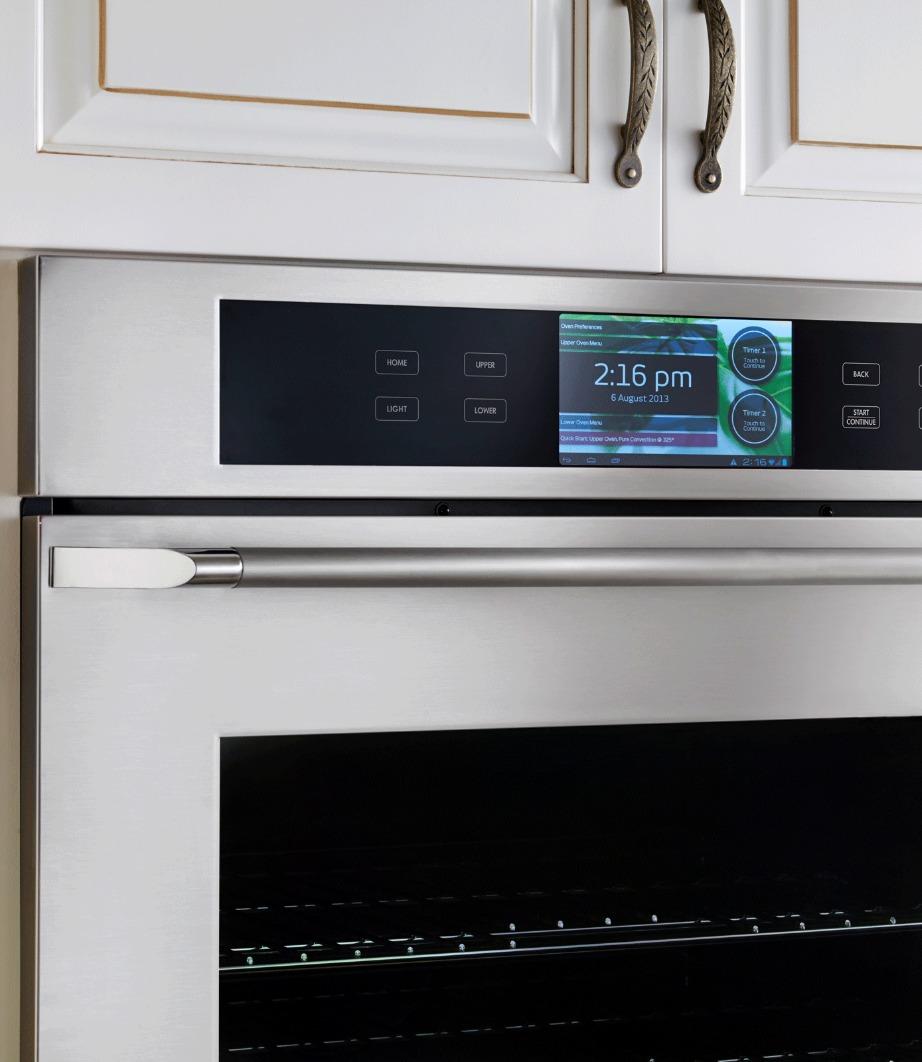 Ο φούρνος διαθέτει σύστημα Android για να κατεβάζετε εφαρμογές μαγειρέματος.