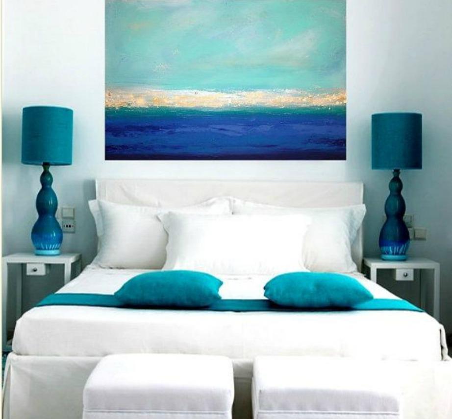 Τι πιο ωραίο για διακόσμηση από έναν πίνακα με όλες τις αποχρώσεις του Greek Blue.