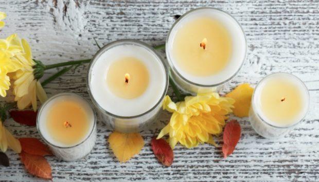 DIY Χειμωνιάτικα Κεριά με Λιγότερο από 5 Ευρώ (VIDEO)