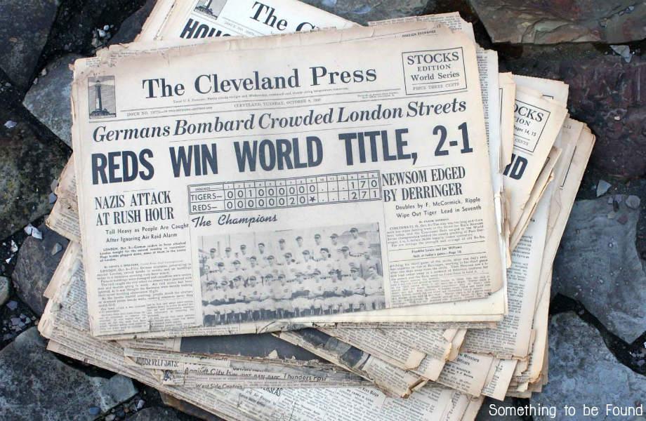 Κάθε μέρα έχει κι άλλα νέα: μην αφήνετε τις παλιές εφημερίδες σας να στοιβάζονται στο coffee table του καθιστικού.