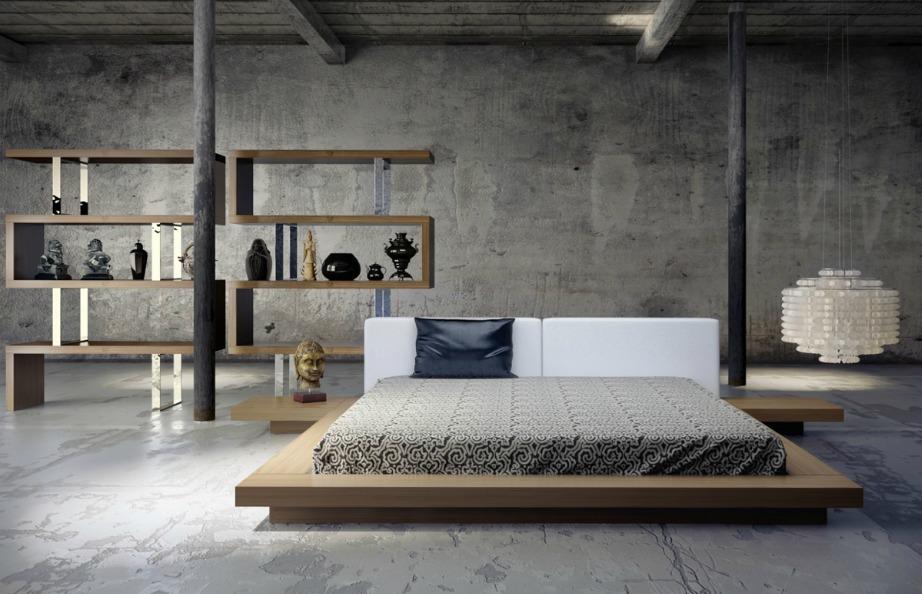 Συνδυάστε το άνετο κρεβάτι σας με ράφια σε ιδιαίτερα γεωμετρικά σχέδια