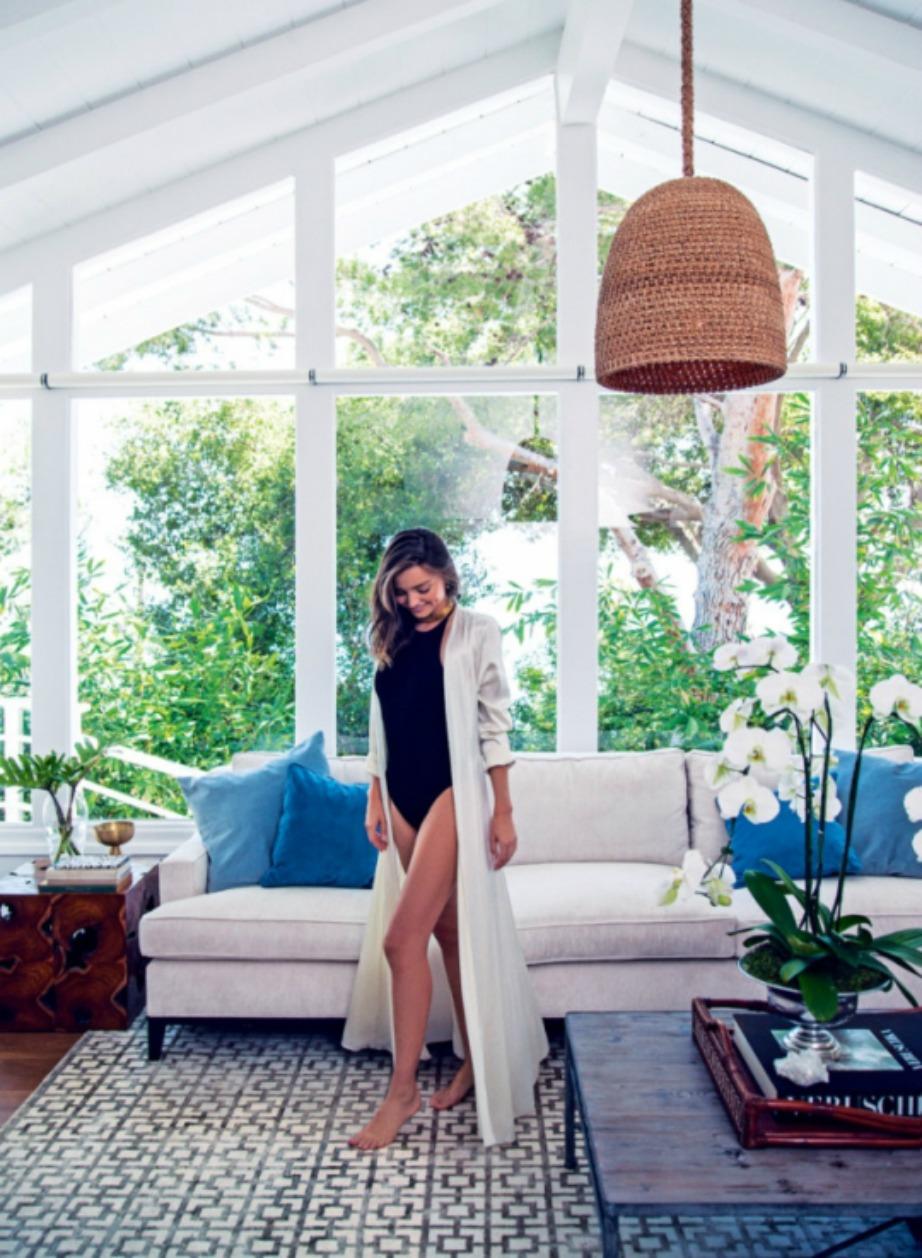 Το υπέροχο σαλόνι του διάσημου top model.