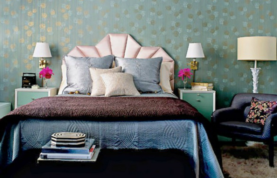Το υπνοδωμάτιο της Jessica Stam συνδυάζει διάφορες αποχρώσεις του μπλε