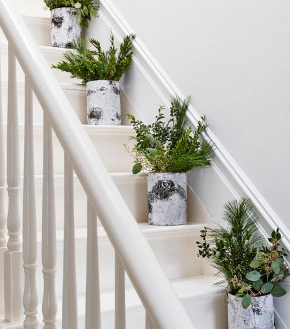 Φτιάξτε ένα όμορφο μονοπάτι πρασινάδας πάνω στη σκάλα σας.