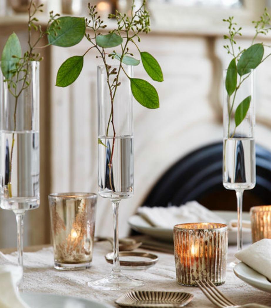 Διακοσμήστε εναλλακτικά τα ποτήρια της σαμπάνιας.