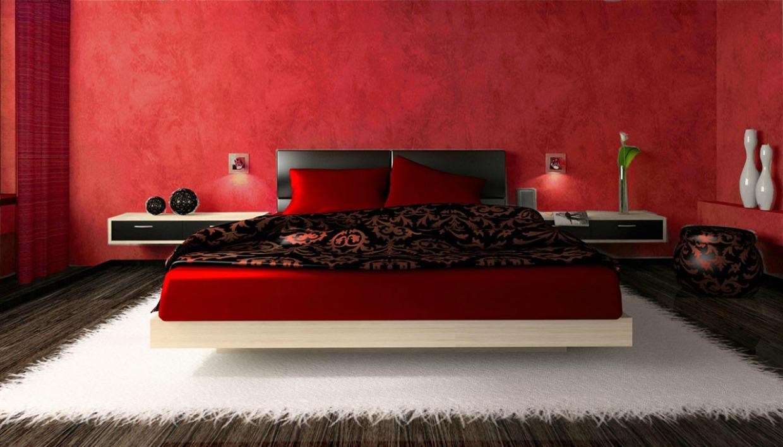 Μπορείτε να βάψετε το δωμάτιό σας σε μια γλυκιά απόχρωση του κόκκινου και να επιλέξετε κατακόκκινα σεντόνια και σκεπάσματα για ακόμα πιο έντονο αποτέλεσμα