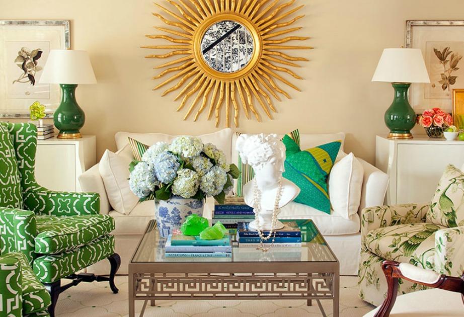 Το πράσινο, το χρυσό, το μπεζ συνδυάζονται μεταξύ τους και μας δίνουν μια από τις πιο όμορφες και ιδιαίτερες χρωματικές παλέτες.