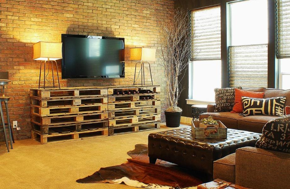 Μπορείτε να χρησιμοποιήσετε τη ρουστίκ διακόσμηση σε όλο το σαλόνι σας ή σε μικρές λεπτομέρειες.